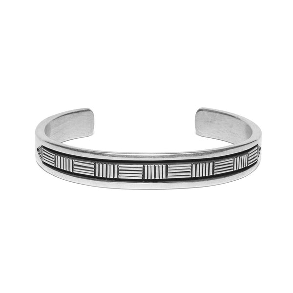Stamped Cross Hatch Cuff