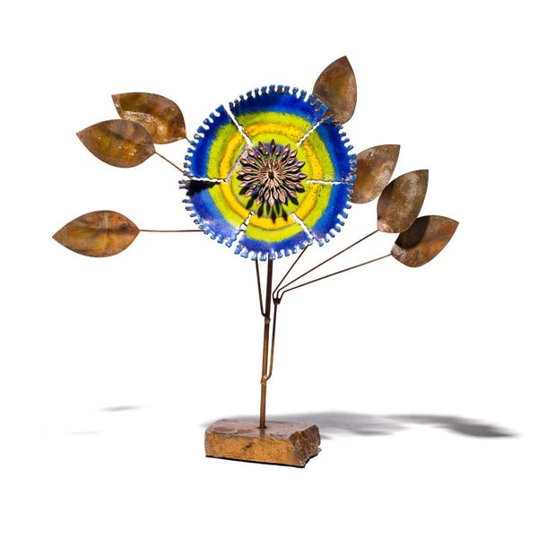 Vintage (C. Jere) - Enamel Flower Sculpture - MAN of the WORLD Online Destination for Men's Lifestyle - 1
