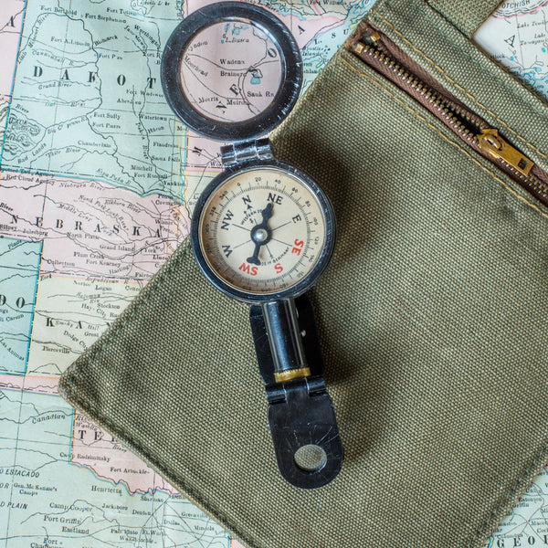 VINTAGE - Folding Field Compass & Binoculars - MAN of the WORLD Online Destination for Men's Lifestyle - 5