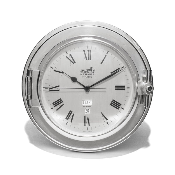HERMES - Stainless Steel Porthole Clock - MAN of the WORLD Online Destination for Men's Lifestyle - 1