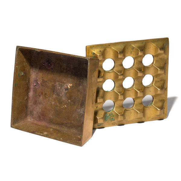 VINTAGE - Medium Brass Geometric Ashtray - MAN of the WORLD Online Destination for Men's Lifestyle - 5