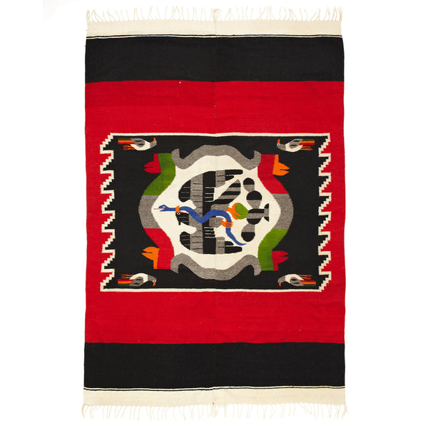 VINTAGE - Mexican Coat of Arms Rug - MAN of the WORLD Online Destination for Men's Lifestyle - 1