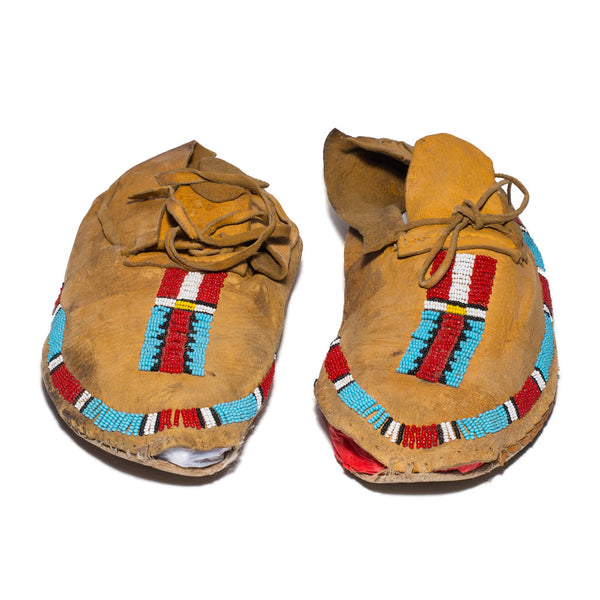 Moccasin - Red & Blue