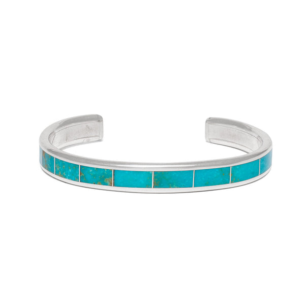 Nevada Turquoise Inlay Cuff