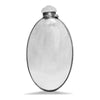 VINTAGE - Oval Sterling Silver Flask - MAN of the WORLD Online Destination for Men's Lifestyle - 1