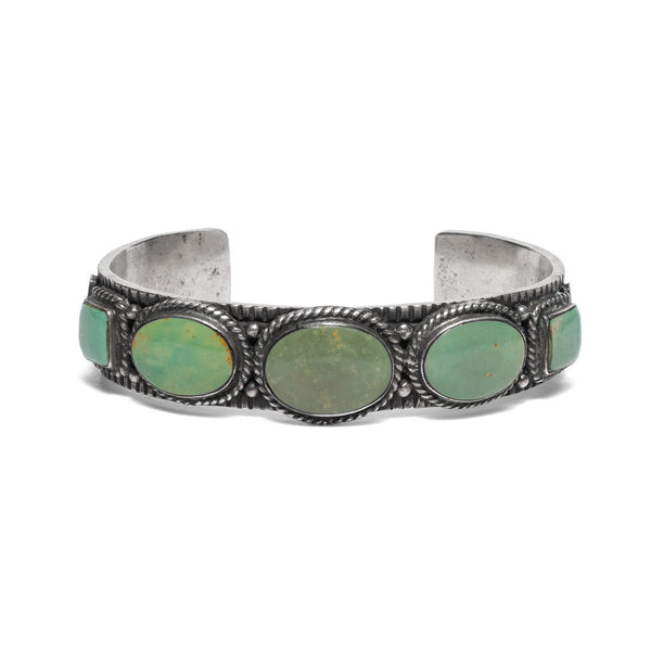 VINTAGE - Oval/Square Turquoise Cuff - MAN of the WORLD Online Destination for Men's Lifestyle - 1