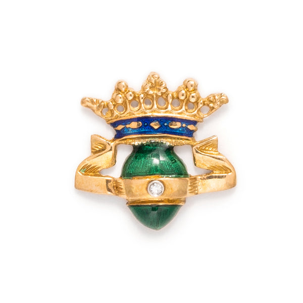 VINTAGE - Crowned Green Egg Pin - MAN of the WORLD Online Destination for Men's Lifestyle