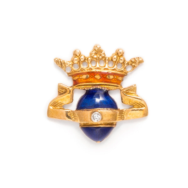VINTAGE - Crowned Blue Egg Pin - MAN of the WORLD Online Destination for Men's Lifestyle