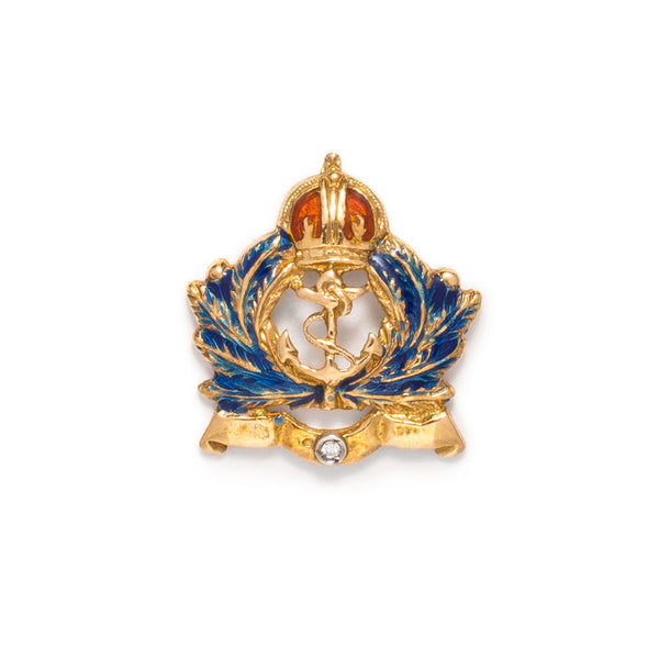 VINTAGE - Crown Anchor and Wreath Pin - MAN of the WORLD Online Destination for Men's Lifestyle
