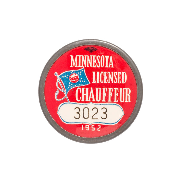 VINTAGE - 1952 Minnesota Licensed Chauffeur Badge - MAN of the WORLD Online Destination for Men's Lifestyle