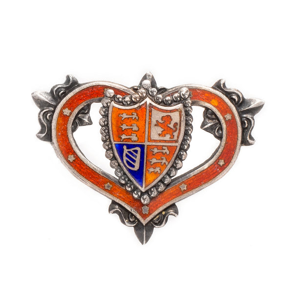 VINTAGE - Shield in Heart Pin - MAN of the WORLD Online Destination for Men's Lifestyle