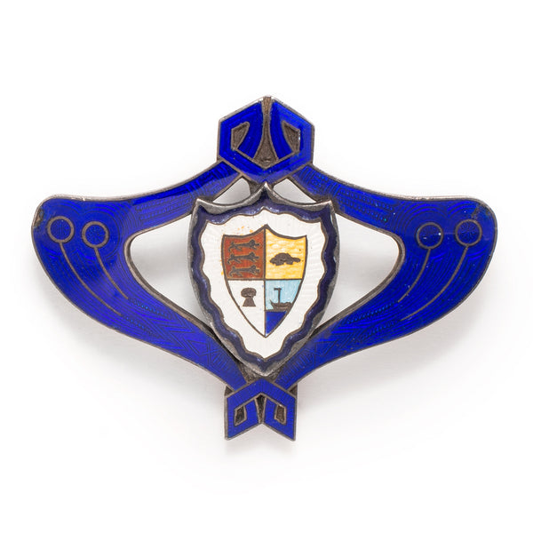 Shield and Blue Border Pin