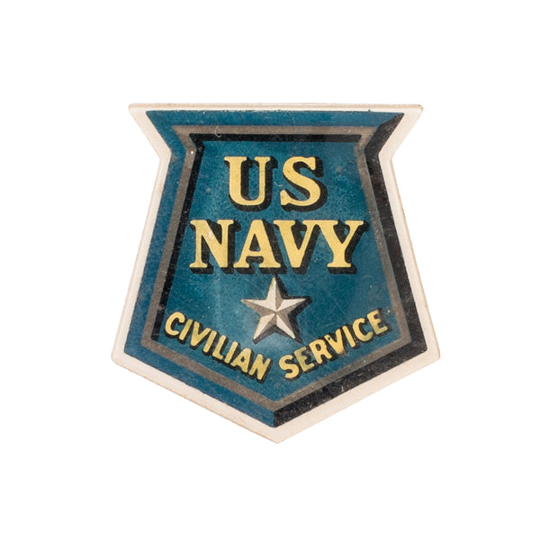 VINTAGE - United States Navy Civilian Service Pin - MAN of the WORLD Online Destination for Men's Lifestyle