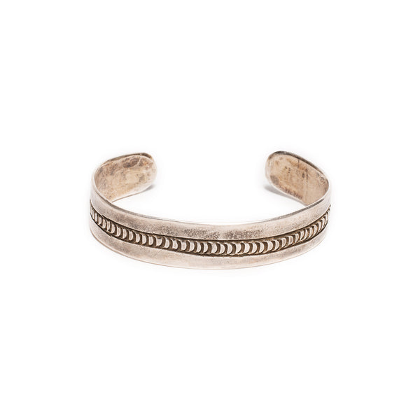 Stacked Raw Sterling Cuff
