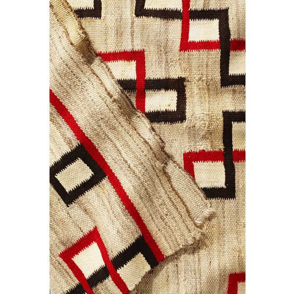 VINTAGE - Red and Black Geometric Navajo Rug - MAN of the WORLD Online Destination for Men's Lifestyle - 2