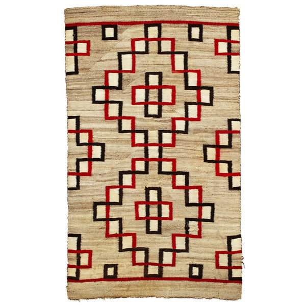 VINTAGE - Red and Black Geometric Navajo Rug - MAN of the WORLD Online Destination for Men's Lifestyle - 1