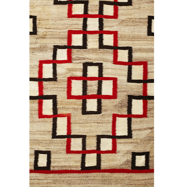 VINTAGE - Red and Black Geometric Navajo Rug - MAN of the WORLD Online Destination for Men's Lifestyle - 3