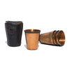 VINTAGE - Set of 4 Shot Glasses in Leather Case - MAN of the WORLD Online Destination for Men's Lifestyle - 1