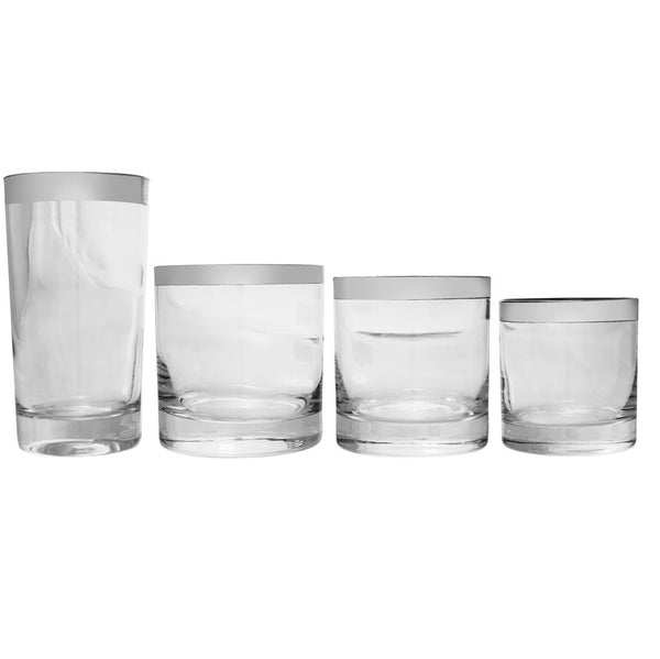 VINTAGE - Silver Rimmed Shot Glass Set - MAN of the WORLD Online Destination for Men's Lifestyle - 4