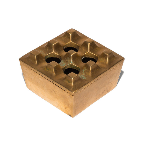 VINTAGE - Small Brass Geometric Ashtray - MAN of the WORLD Online Destination for Men's Lifestyle - 1