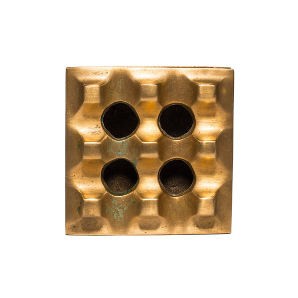 VINTAGE - Small Brass Geometric Ashtray - MAN of the WORLD Online Destination for Men's Lifestyle - 3