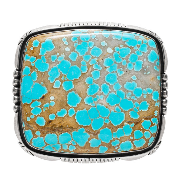 MAN OF THE WORLD - Spotted Turquoise Belt Buckle - MAN of the WORLD Online Destination for Men's Lifestyle - 1