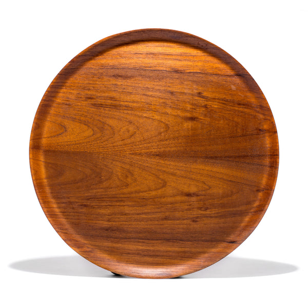 VINTAGE - Swedish Circular Teak Tray - MAN of the WORLD Online Destination for Men's Lifestyle - 1