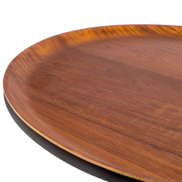 VINTAGE - Swedish Circular Teak Tray - MAN of the WORLD Online Destination for Men's Lifestyle - 4
