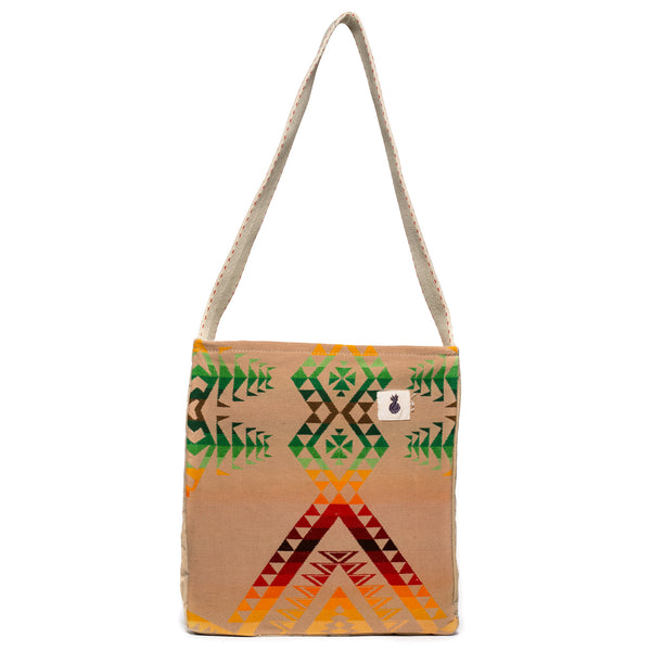 VINTAGE - Tan Multi-Color Camp Blanket Bag - MAN of the WORLD Online Destination for Men's Lifestyle