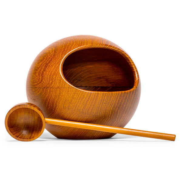 SOWE-KONST - Teak Orb Nut Bowl - MAN of the WORLD Online Destination for Men's Lifestyle - 1