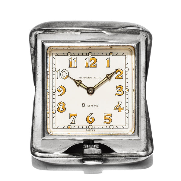Vintage (Tiffany & Co.) - Miniature Silver Travel Clock - MAN of the WORLD Online Destination for Men's Lifestyle - 1