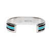 MAN OF THE WORLD - Turquoise Inlay and Zigzag Cuff - MAN of the WORLD Online Destination for Men's Lifestyle - 3
