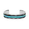 MAN OF THE WORLD - Turquoise Inlay and Zigzag Cuff - MAN of the WORLD Online Destination for Men's Lifestyle - 1
