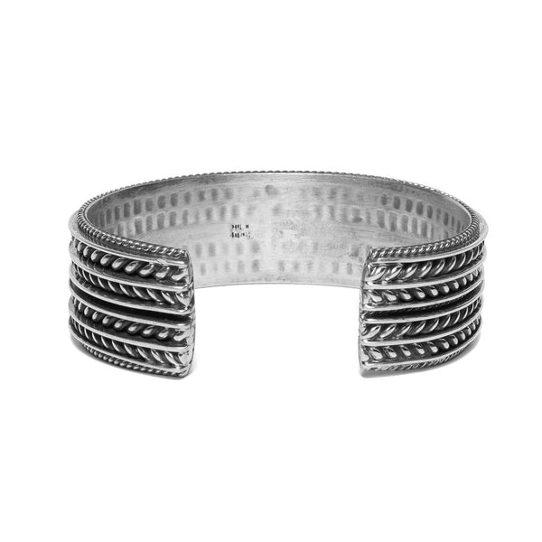 MAN OF THE WORLD - Wide Twisted Cable Cuff - MAN of the WORLD Online Destination for Men's Lifestyle - 3