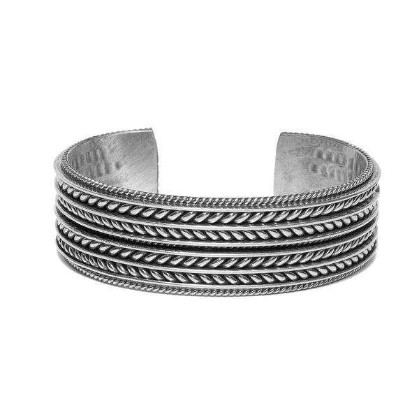 MAN OF THE WORLD - Wide Twisted Cable Cuff - MAN of the WORLD Online Destination for Men's Lifestyle - 1