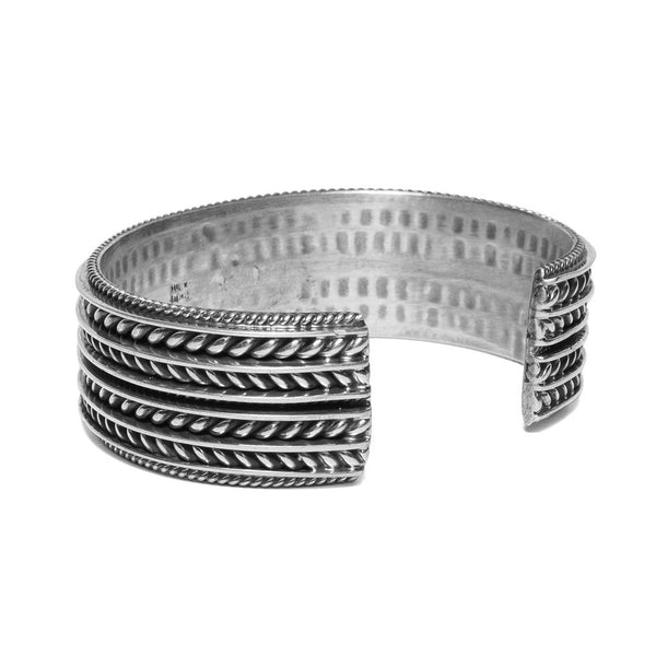 MAN OF THE WORLD - Wide Twisted Cable Cuff - MAN of the WORLD Online Destination for Men's Lifestyle - 2