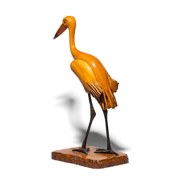 VINTAGE - Wooden and Iron Crane Figure - MAN of the WORLD Online Destination for Men's Lifestyle - 4