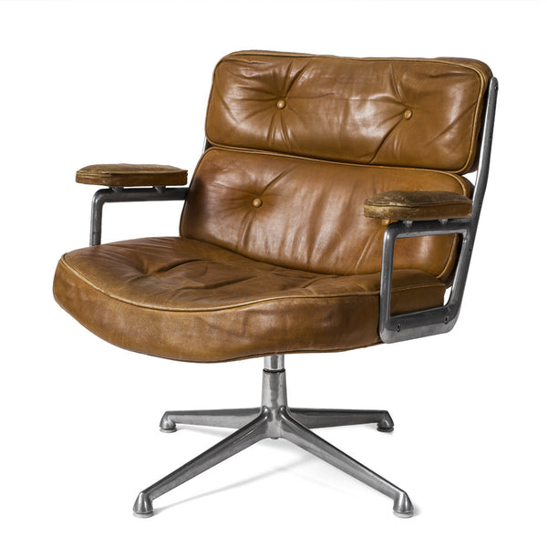 Eames Executive Swivel Chair - Brown Leather