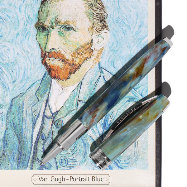 Visconti Pens - Van Gogh Self Portrait Blue Rollerball - MAN of the WORLD Online Destination for Men's Lifestyle - 9