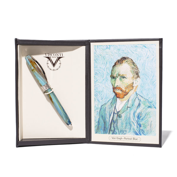 Visconti Pens - Van Gogh Self Portrait Blue Rollerball - MAN of the WORLD Online Destination for Men's Lifestyle - 8