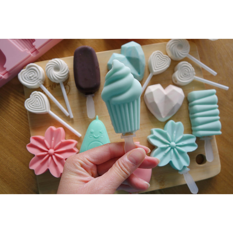 Cakesicle, Cupcake & Rectangle Swirl Cakesicle Mold