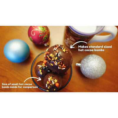 standard round semisphere hot chocolate bomb molds yummy gummy molds