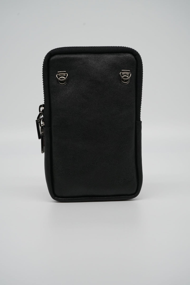 Minibag MINA Metallic-Optik - schwarz