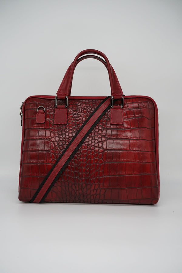 Office-Bag CROCO L - rot