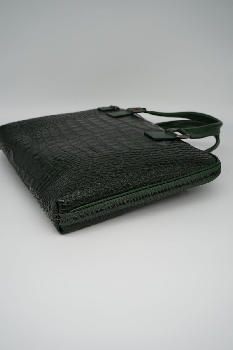 Office-Bag CROCO L - grün