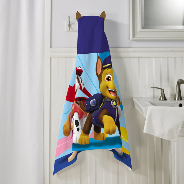 PAW Patrol Kids Bath and Beach Hooded Towel Wrap, 100% Cotton - FPI Ventures