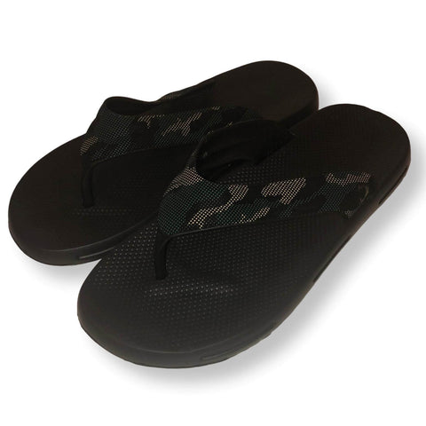 Mens Thong Sandals Camo Flip Flop Shower Shoes, Black, Brown and Gray, Size 7-12 - FPI Ventures