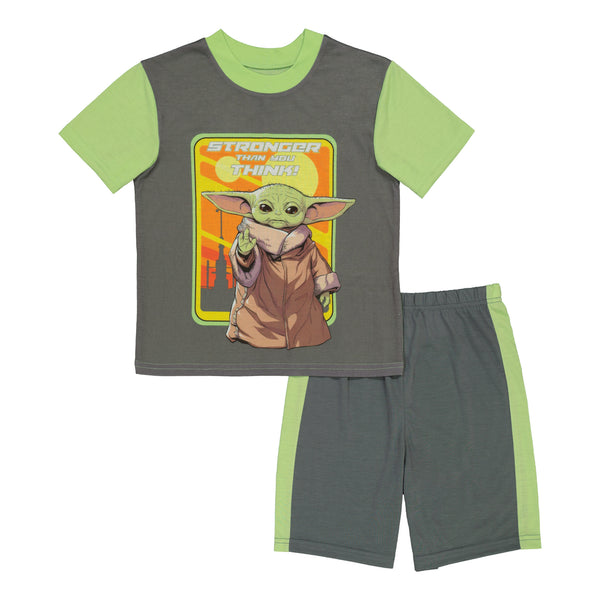 Baby Yoda Boys Pajamas 3pc Star Wars PJ Set Kids Sleepwear, 4-10, Grey - FPI Ventures
