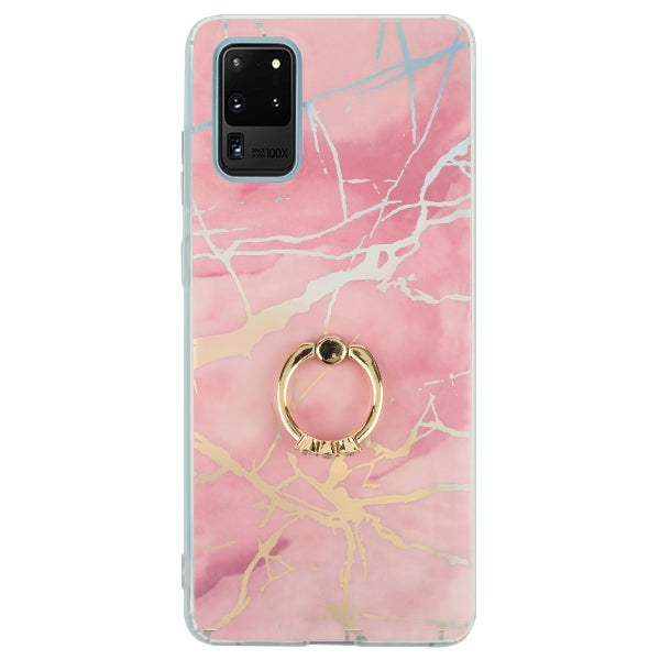 Marble Pink Ring Case Samsung S20 Ultra