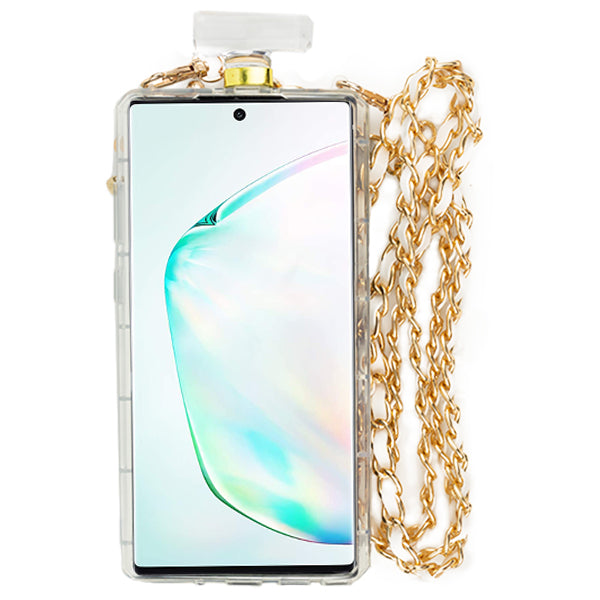 Handmade Gold Cheetah Bling Bottle Samsung Note 10 Plus